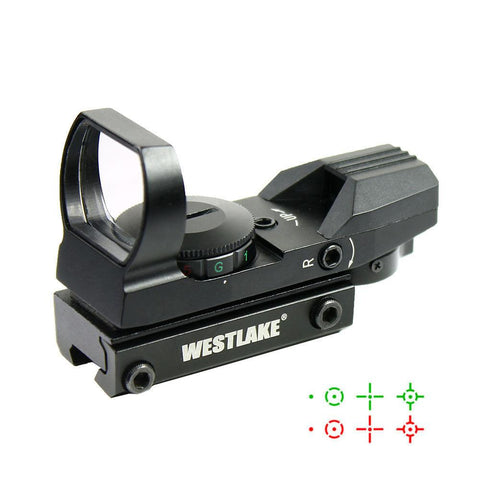 Tactical Holographic Reflex Red Green Dot Sight 4 Reticle - 11mm Dovetail Mount - West Lake Tactical