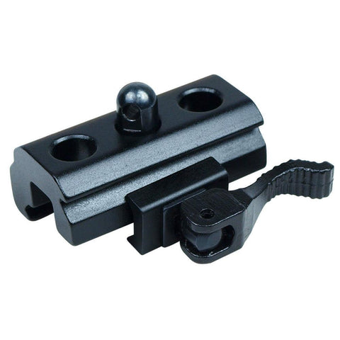Quick Release QR Harris Style Bipod Sling Stud to 20mm Rail Adapter Black Matte - West Lake Tactical