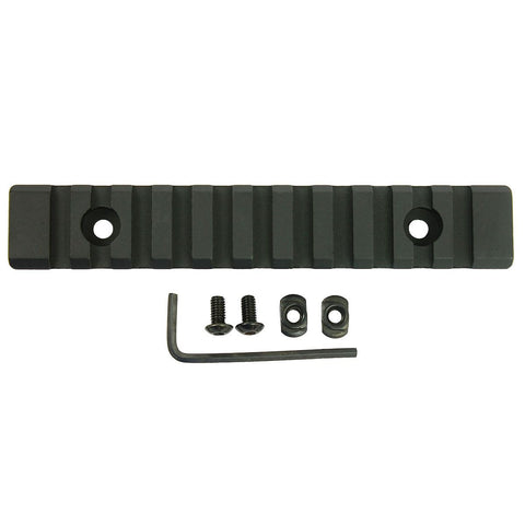 "M-Lok 11 Slot Picatinny/Weaver Rail Handguard Section Aluminum 5"" - Black"