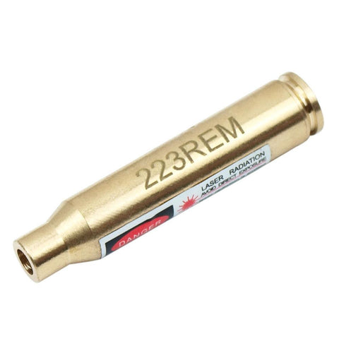 Red Laser Dot 223 Boresighter .223 REM Brass Laser Bore sight for Rifle Gun - West Lake Tactical