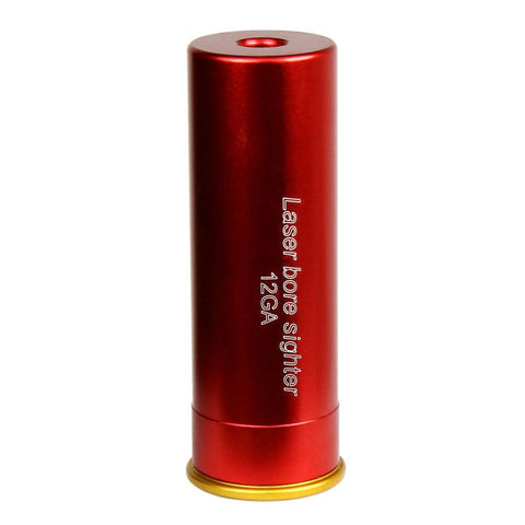 Red Laser Bore Sight 12 Gauge Barrel Cartridge Boresighter for 12ga Shotguns