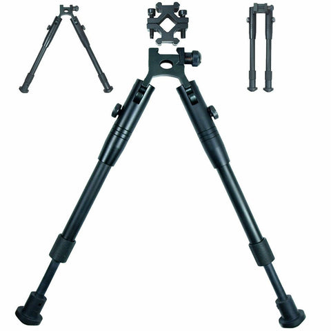 "8""-10"" Picatinny Spring Return Foldable Hunting Rifle Bipod with Barrel Mounts - West Lake Tactical"
