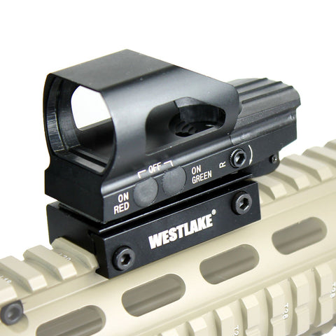 Tactical Sight Holographic Relex Scope - Red Green 4 Reticle Rail Mount - HD104 - West Lake Tactical