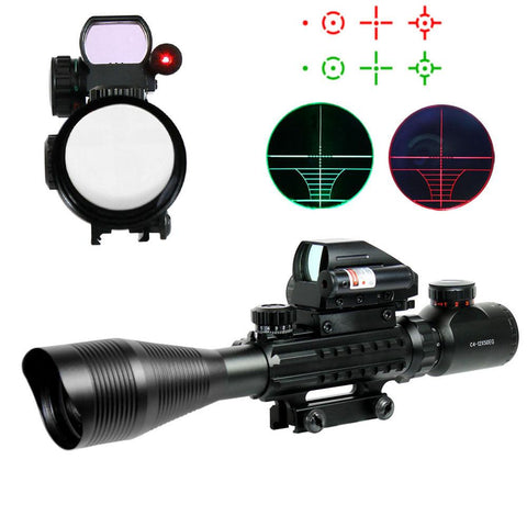 4-12X50 EG Tactical Rifle Scope with Holographic 4 Reticle Sight & Red Laser - West Lake Tactical