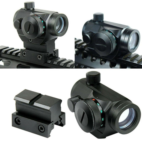 Tactical Reflex Red Green Dot Sight Scope - Dual High - Low Profile Rail Mounts - West Lake Tactical