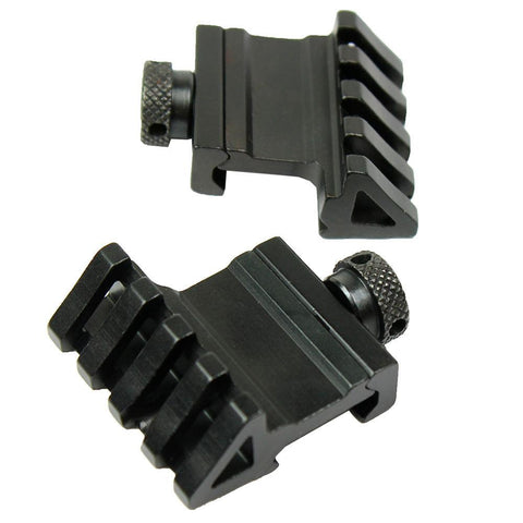 2 PCS 1 Pair 45 Degree Offset Rail Mount Quick Release for Picatinny Weaver Rail - West Lake Tactical