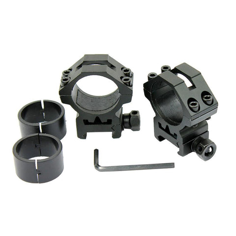 "2- 1"" Scope Ring with Reducers Low Profile Rail Laser Flashlight Mount Picatinny - West Lake Tactical"