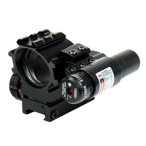 Holographic Tactical Red / Green 4 Reticles Reflex Dot Scope + laser sight combo - West Lake Tactical
