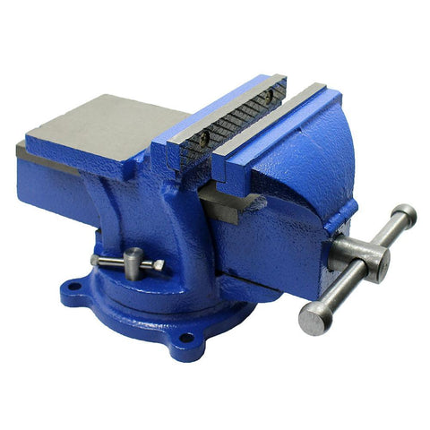 "5""  Bench Vise with Anvil with Swivel Locking Base - Heavy Duty All Steel - West Lake Tactical"