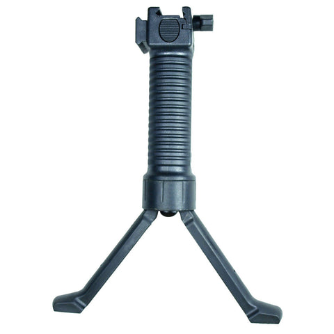 Black Tactical Picatinny Retractable Foregrip Bipod  Reinforced Legs & Acc Rail - West Lake Tactical