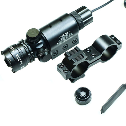 High Power Tactical Green Laser Sight Rifle Dot Scope - Rail and Barrel Mounts