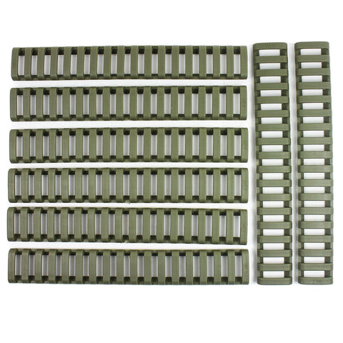 8x Heat Resistant Rifle Ladder Rail Cover Weaver Picatinny Handguard - OD Green
