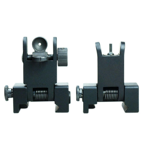 Tactical 223 556 Micro Flip Up Rapid Transition Front and Rear Iron Sight Set - West Lake Tactical