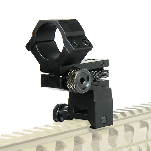 "Tactical Flashlight / Laser / Scope Mount Windage Elevation Adjustable 1"" Ring - West Lake Tactical"