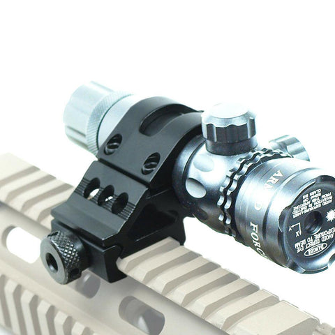 "1"" Offset Scope Ring with 20mm Rail Mount for Scopes / Laser / Flashlight"