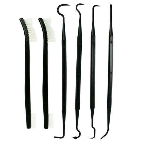 6 PCS Set Gun Rifle Pistol Cleaning Picks + Nylon Brushes - Non-Scratching - West Lake Tactical