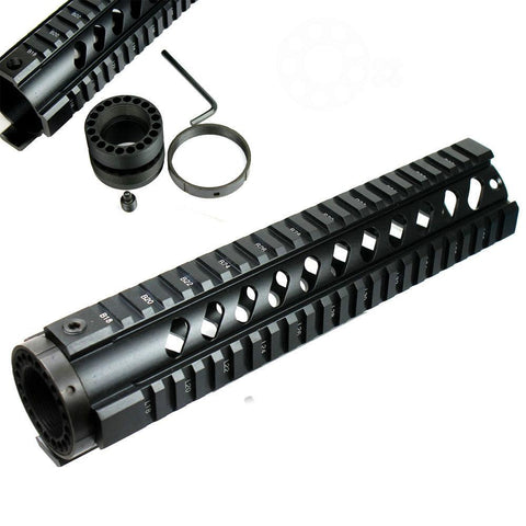 "10"" Long Free Float Handguard Picatinny Quad Rail, .223/5.56 - West Lake Tactical"