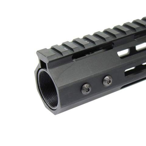 "10"" M-LOK Handguard Quad Rail 7 Sided Ultra Slim Free Float - West Lake Tactical"