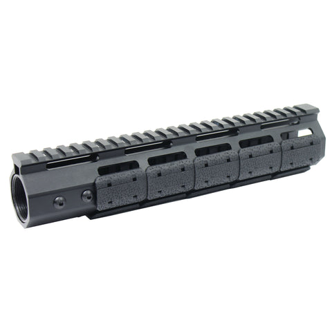 "10"" M-LOK Handguard 7 Sides Ultra Slim Free Float with 15 PCS MLOK Rail Covers"