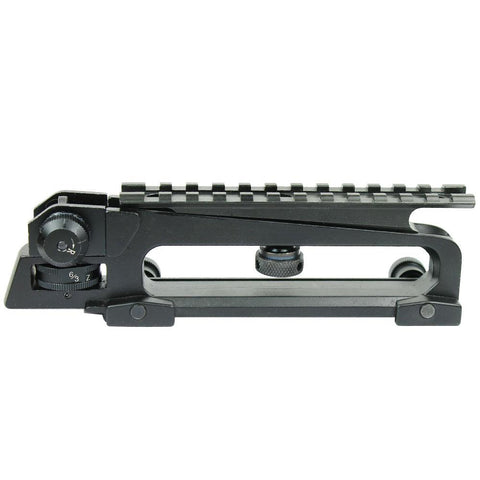 New Weaver Picatinny Rail Flattop QD Quick Release Carry Handle w/ Rear Sight Plus Top Mount - West Lake Tactical