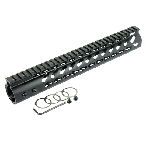 "12"" KEYMOD Handguard Ultra Slim Free Float Quad Rail"
