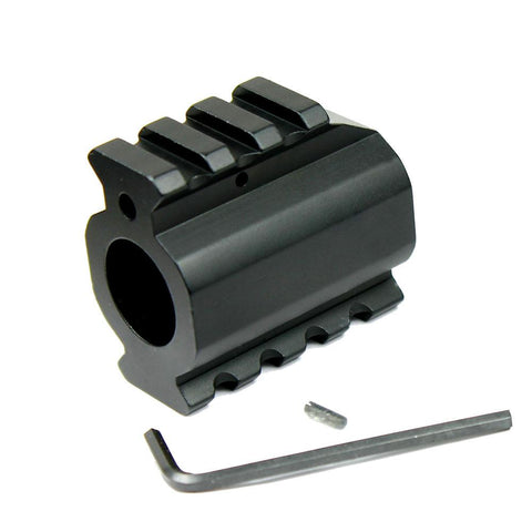 Low Profile Gas Block w/ Top & Bottom Picatinny Rail & Roll Pin for .750 Barrel - West Lake Tactical