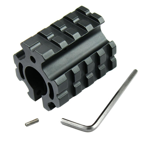 Clamp on Barrel Mount w/ Quad Rail 5.56/223 Gas Block & Roll Pin Fit .750 Barrel - West Lake Tactical