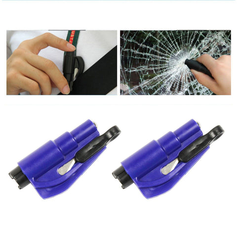 2 in 1 Emergency Window Glass Breaker Car Tool & Seat Belt Cutter Key Chain - West Lake Tactical