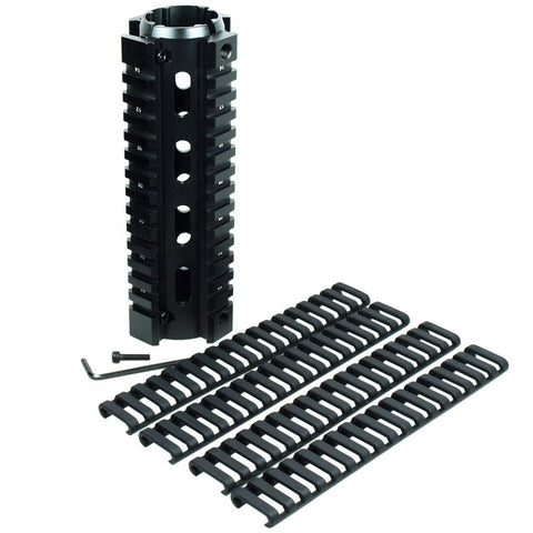 "6.7"" Length Carbine Handguard Picatinny Quad Rail w/ Pack of 4 Ladder Rail Cover - West Lake Tactical"