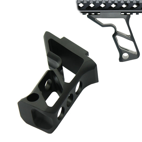 Skeletonized Tactical Foregrip Angled Grip All Metal Black