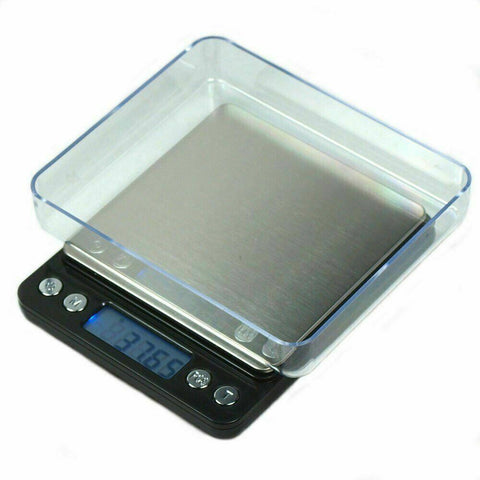 "2000g x 0.1g Digital Precision Scale with 4"" Platform and Trays - oz g ct gn"