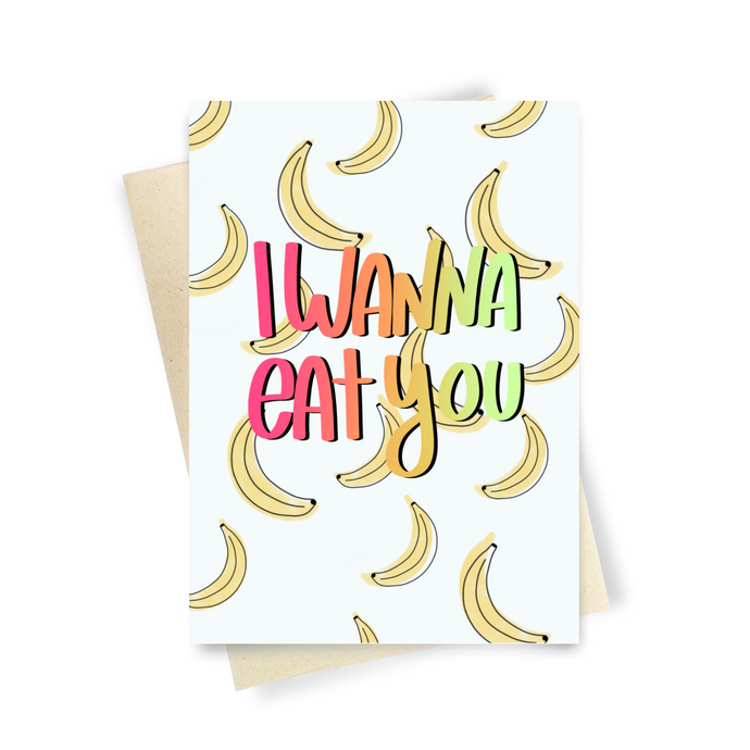 Banana Love - Dirty Card - Naughty Adult Greeting Card - Sleazy Greetings