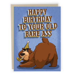 Bare Ass - Dirty Card - Naughty Adult Greeting Card - Sleazy Greetings