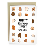 funny butt birthday card sweet cheeks ass