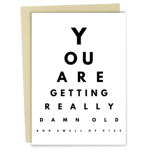 Eye Exam Card