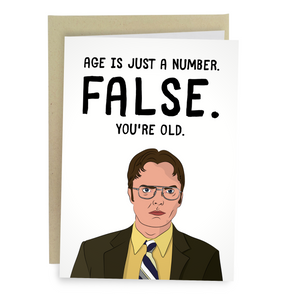 FALSE Dwight Schrute