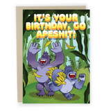 Go Apeshit - Dirty Card - Naughty Adult Greeting Card - Sleazy Greetings