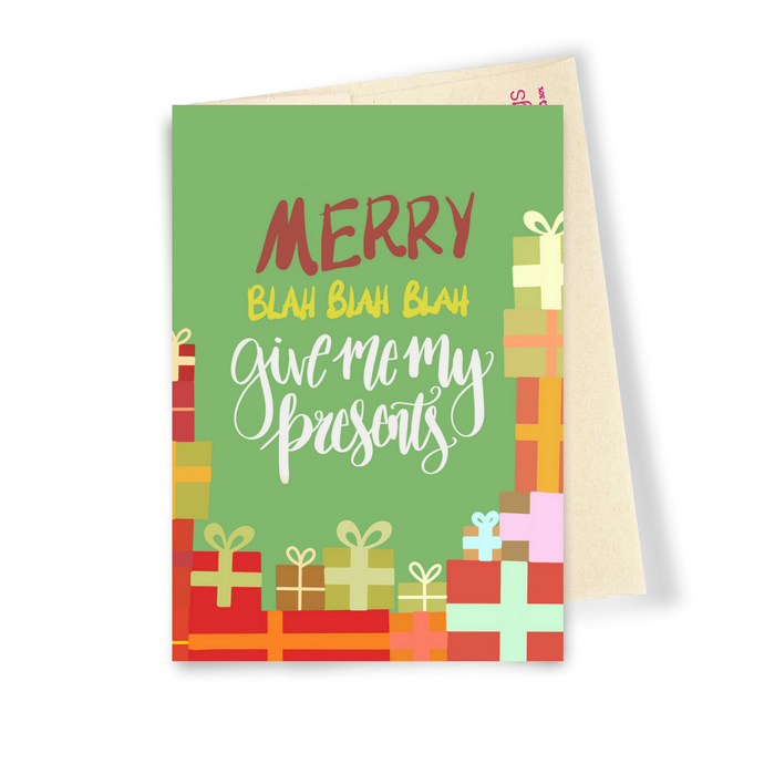Give Me My Presents - Dirty Card - Naughty Adult Greeting Card - Sleazy Greetings
