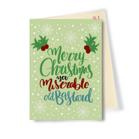 Miserable Old Bastard - Dirty Card - Naughty Adult Greeting Card - Sleazy Greetings