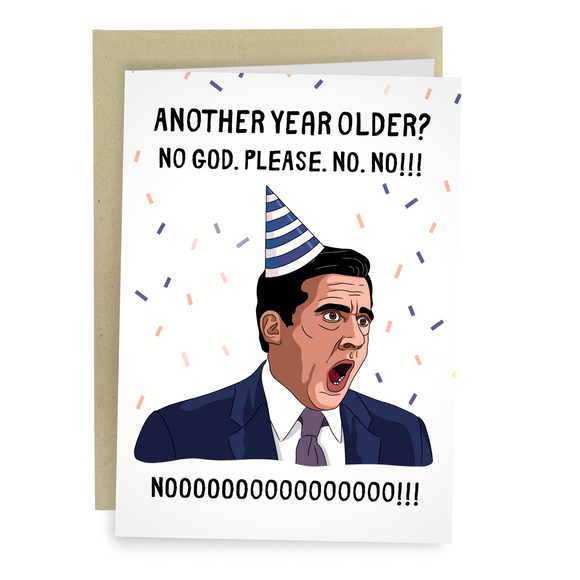 Michael Scott NOOO Funny Birthday Greeting Card