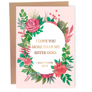 More Than My Sister Does - Dirty Card - Naughty Adult Greeting Card - Sleazy Greetings