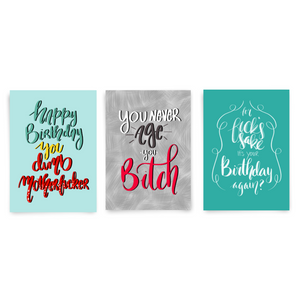 Sassy Birthday Pack, 3 Card Bundle - Dirty Card - Naughty Adult Greeting Card - Sleazy Greetings