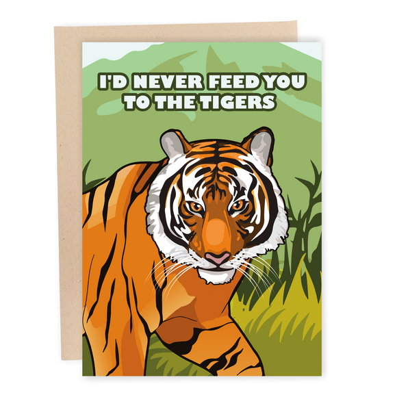 Tiger King Joe Exotic Carole Baskin Funny Birthday Anniversary Card