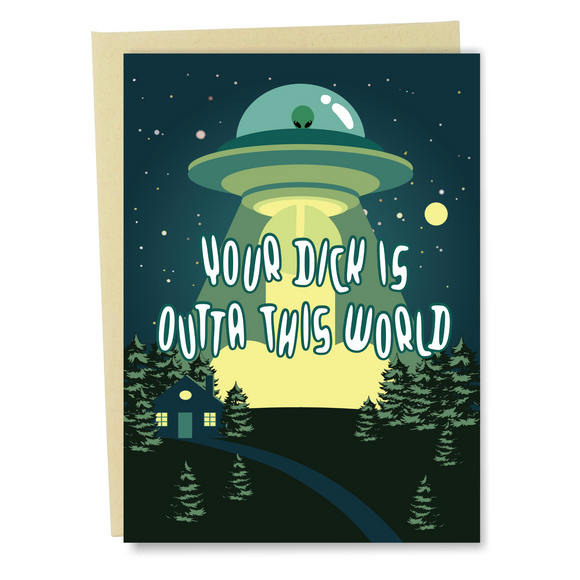 UFO Funny Birthday Card For Boyfriend