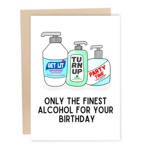 funny quarantine social distancing hand sanitizer birthday card