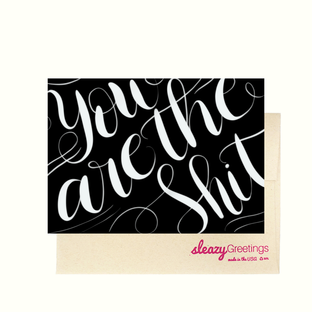 You Are The Shit - Dirty Card - Naughty Adult Greeting Card - Sleazy Greetings