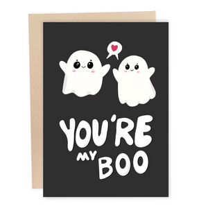 funny you're my boo greeting card halloween ghost birthday anniversary