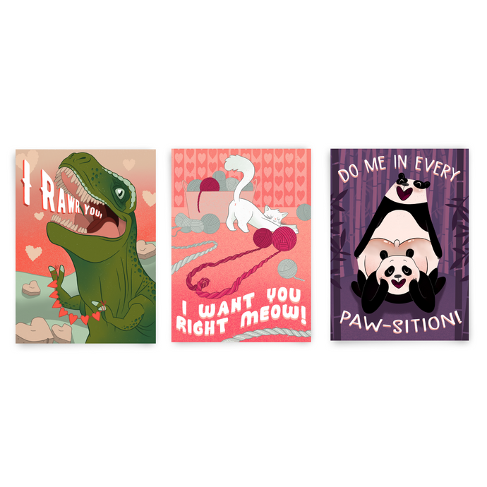 Love Dovey Mini Pack, 3 Card Bundle - Dirty Card - Naughty Adult Greeting Card - Sleazy Greetings