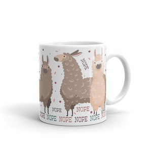 NOPE Llama Mug - Dirty Card - Naughty Adult Greeting Card - Sleazy Greetings