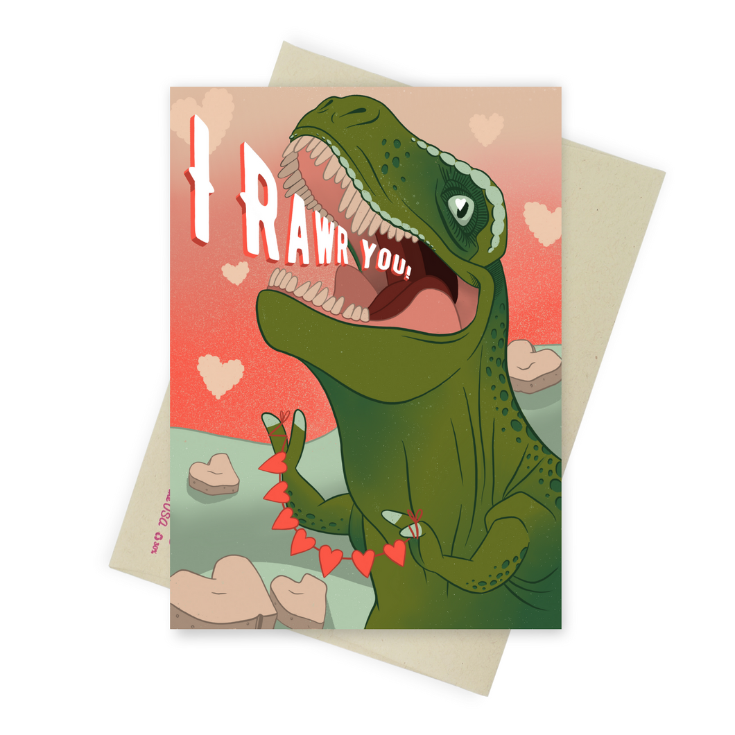 Tyrannosaurus Sex - Dirty Card - Naughty Adult Greeting Card - Sleazy Greetings